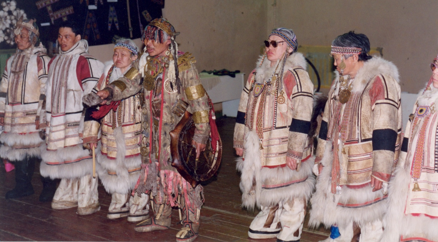Photo of Kosterkin clas in Siberia with shaman in middle
