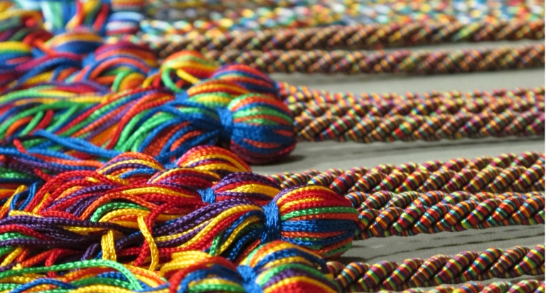 rainbow graduation cords