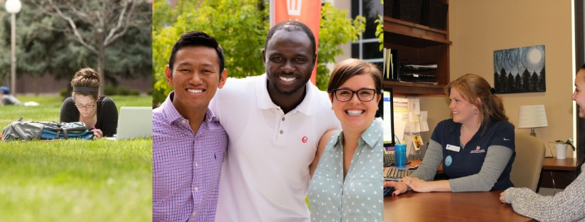 Collage of Boise State Students and Academic Advising
