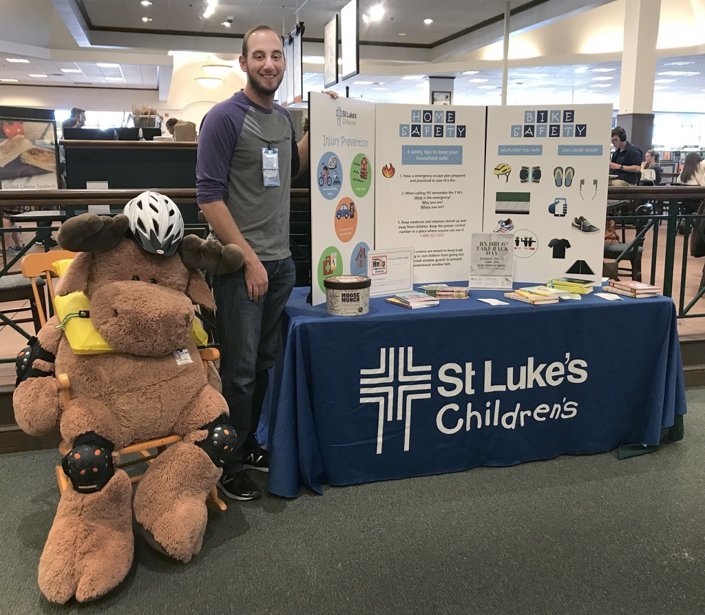 Duncan at St. Luke's promotional table