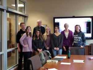 Non-profit students in the conference room