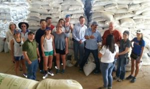 Global Scholars at a bean facility in Costa Rica