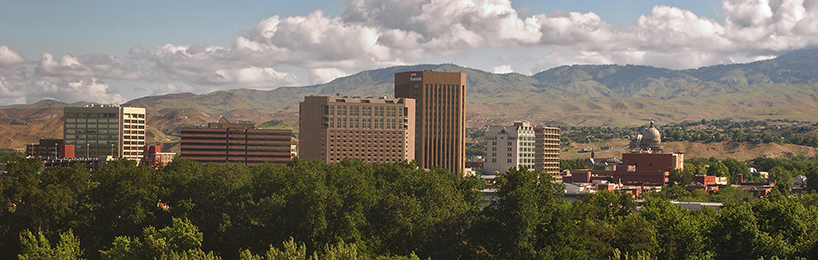 boise city-scape and foothills