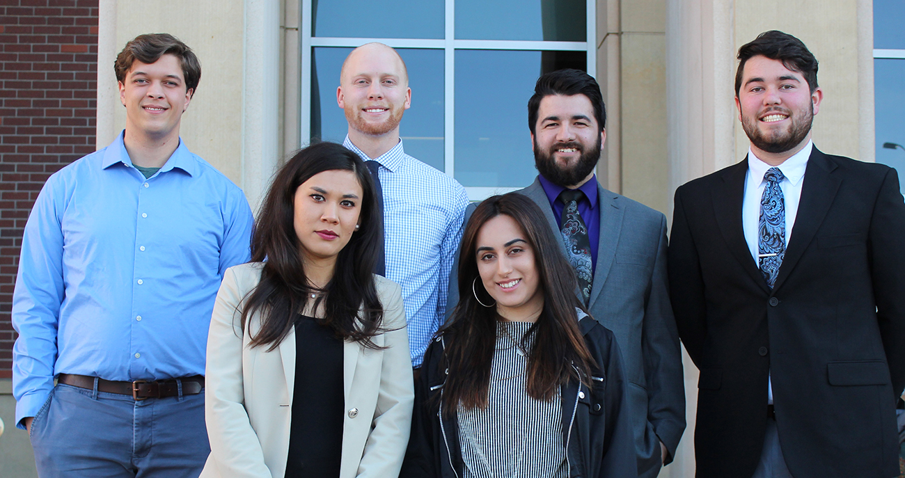 Students representing Tidal NRG (from left to right): Jason Talford, Bahar Faizi, Marc Malin, Sakina Mayan, Mateo Rios and Spencer Harrington.