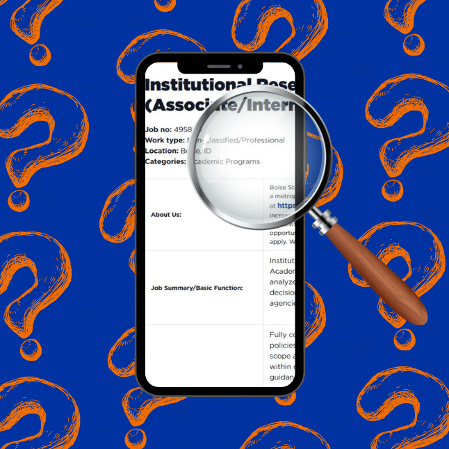 Cellphone and magnifying glass