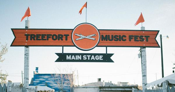 image of Treefort Music Fest main stage sign