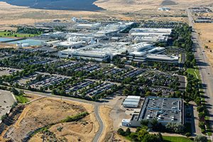 aerial view of Micron Technology campus