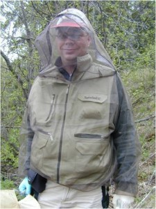 Dr. Merlin White in the field