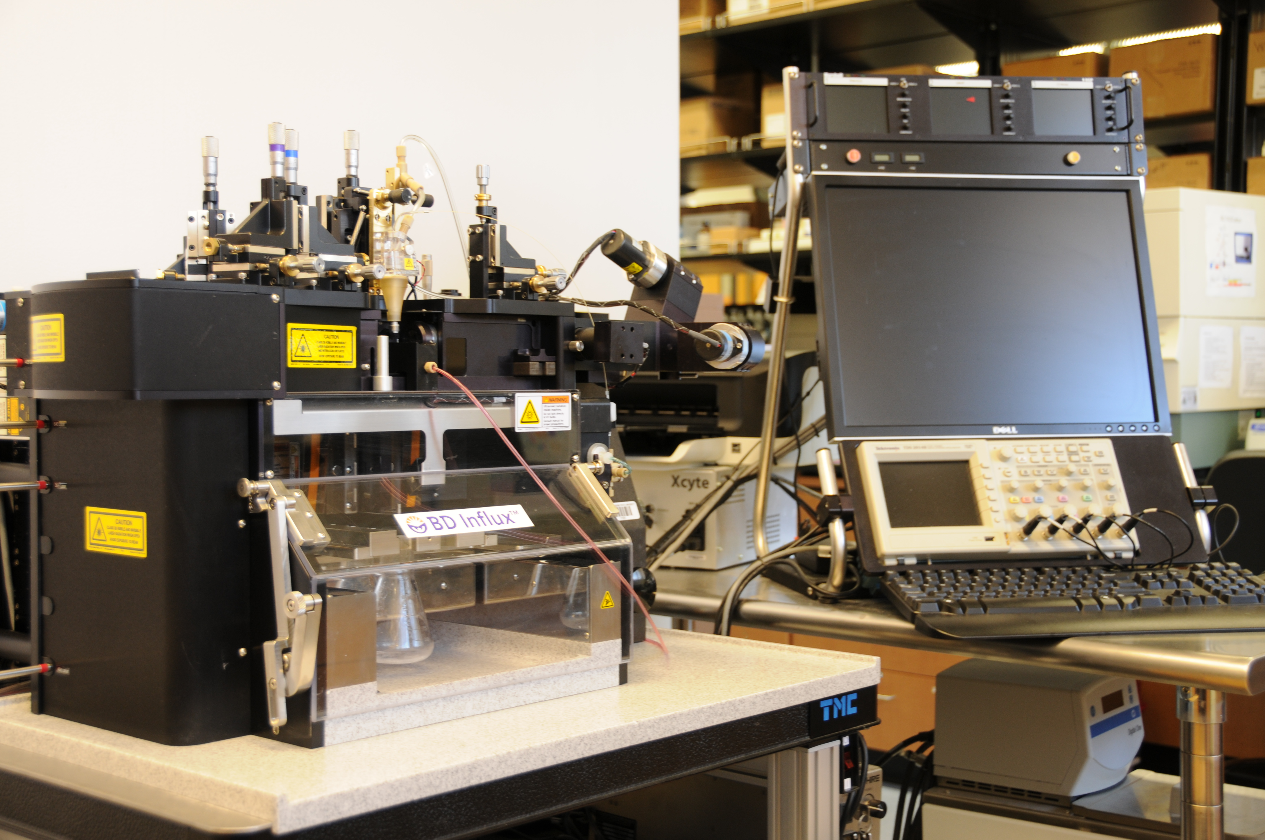state of the art four-laser BD INFLUX cell sorter