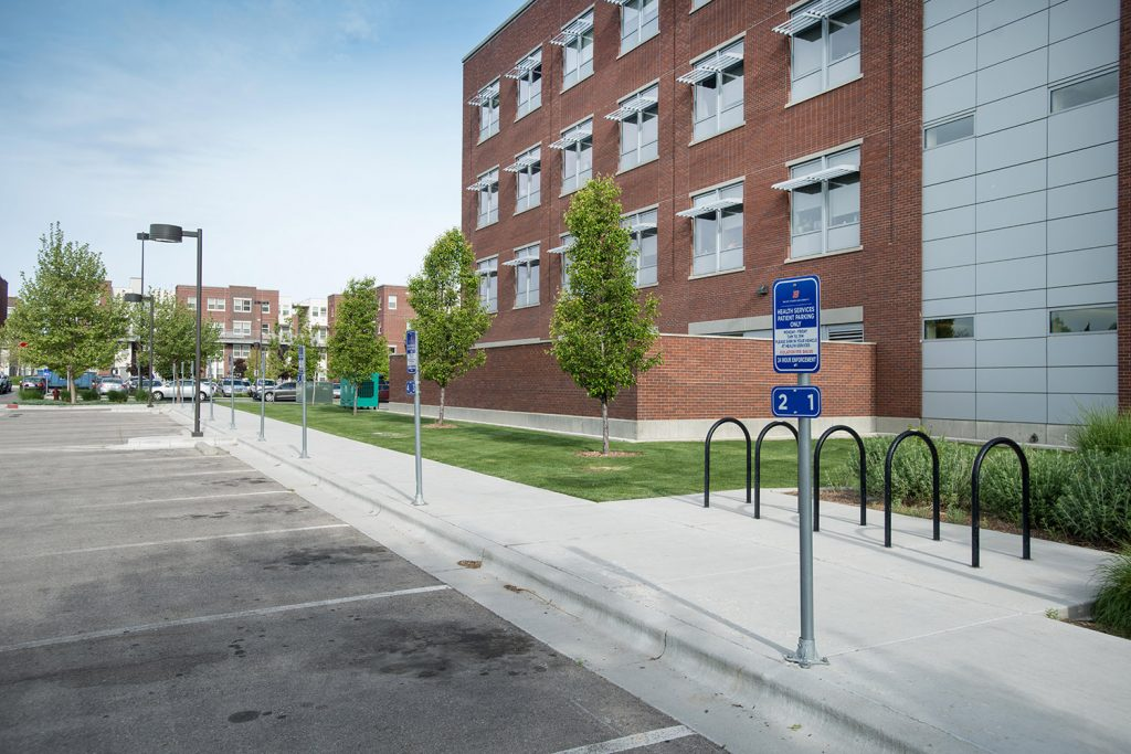 Photo of parking space for Health Services patients