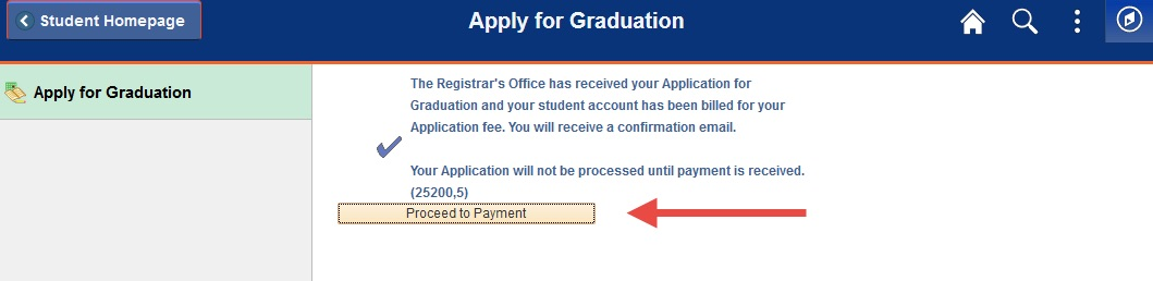 Example of button to click to proceed to the payment page.
