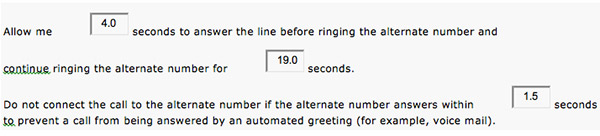 Cisco Mobile Connect timing settings