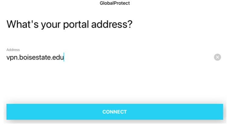 GlobalProtect iOS connection