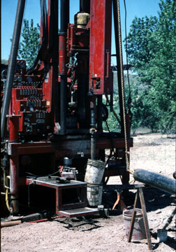Photo of the drill rig