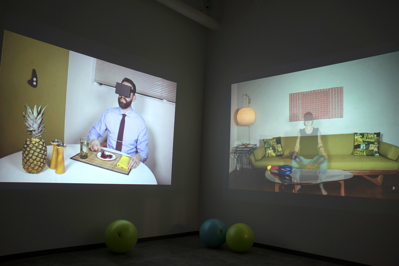 MFA exhibiton of video art