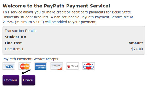 Welcome to PayPath Payment Service screenshot