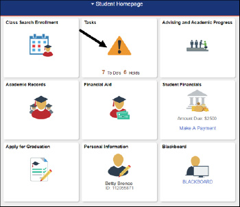 Student Homepage Tasks Tile