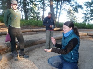 students working with the Idaho Bird Observatory