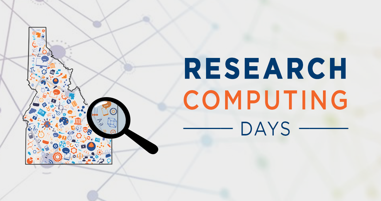 Research Computing Days logo of the state of Idaho with computer icons