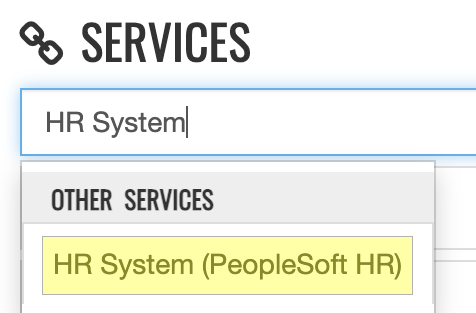 Screenshot demonstrating how to search for and access the HR System link in myBoiseState