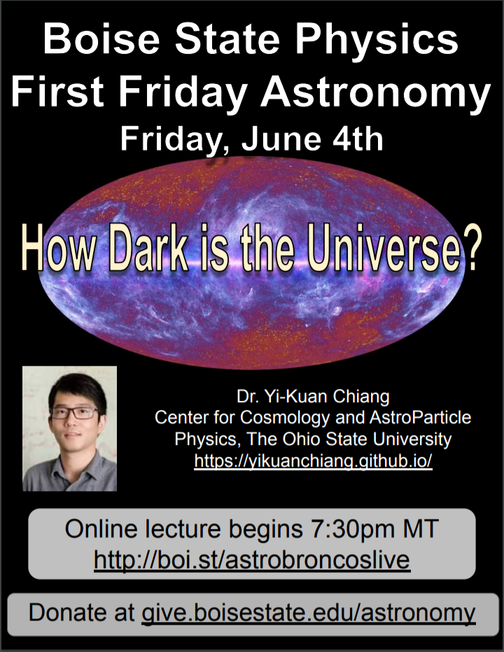 how dark is the universe flyer FFA