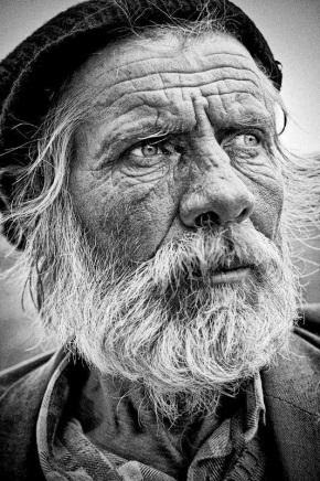 A weathered old man.