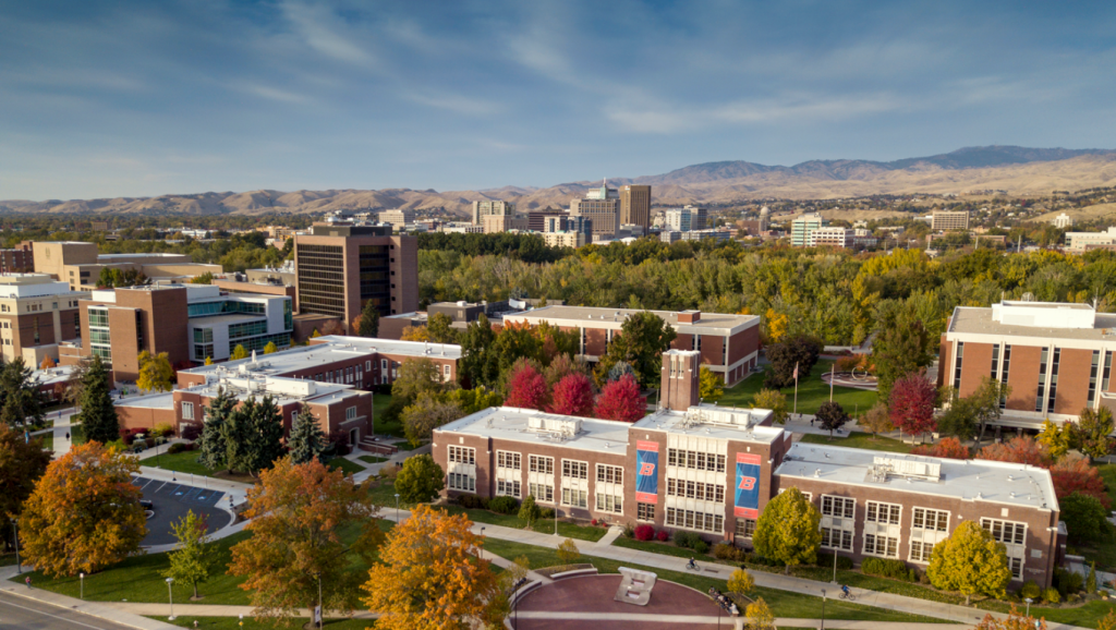 Aerial view of Boise State University