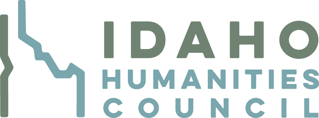 logo for the Idaho Humanities Council in green and turquoise