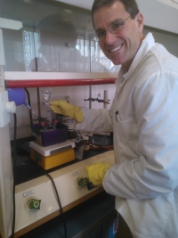 Dr. Owen McDougal in the lab