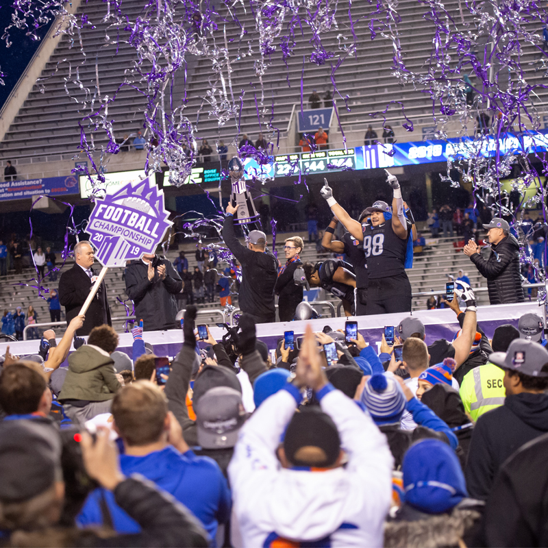Mountain West. Champions on. The Blue
