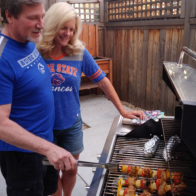 Boise. State. fans. grilling