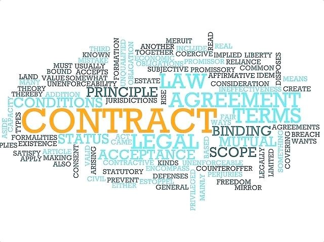 Image of contract terms