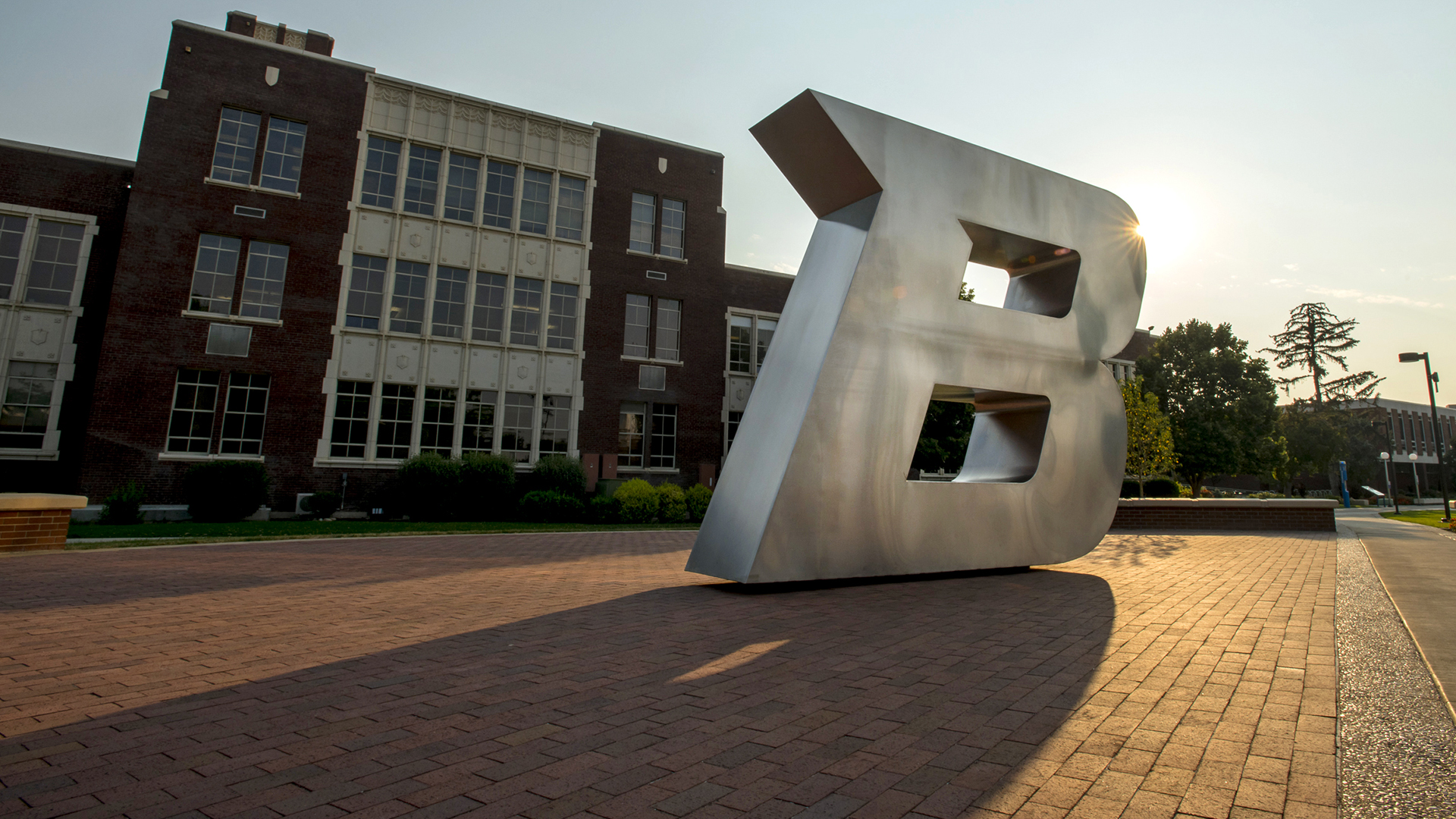 B sculpture, Administration Plaza