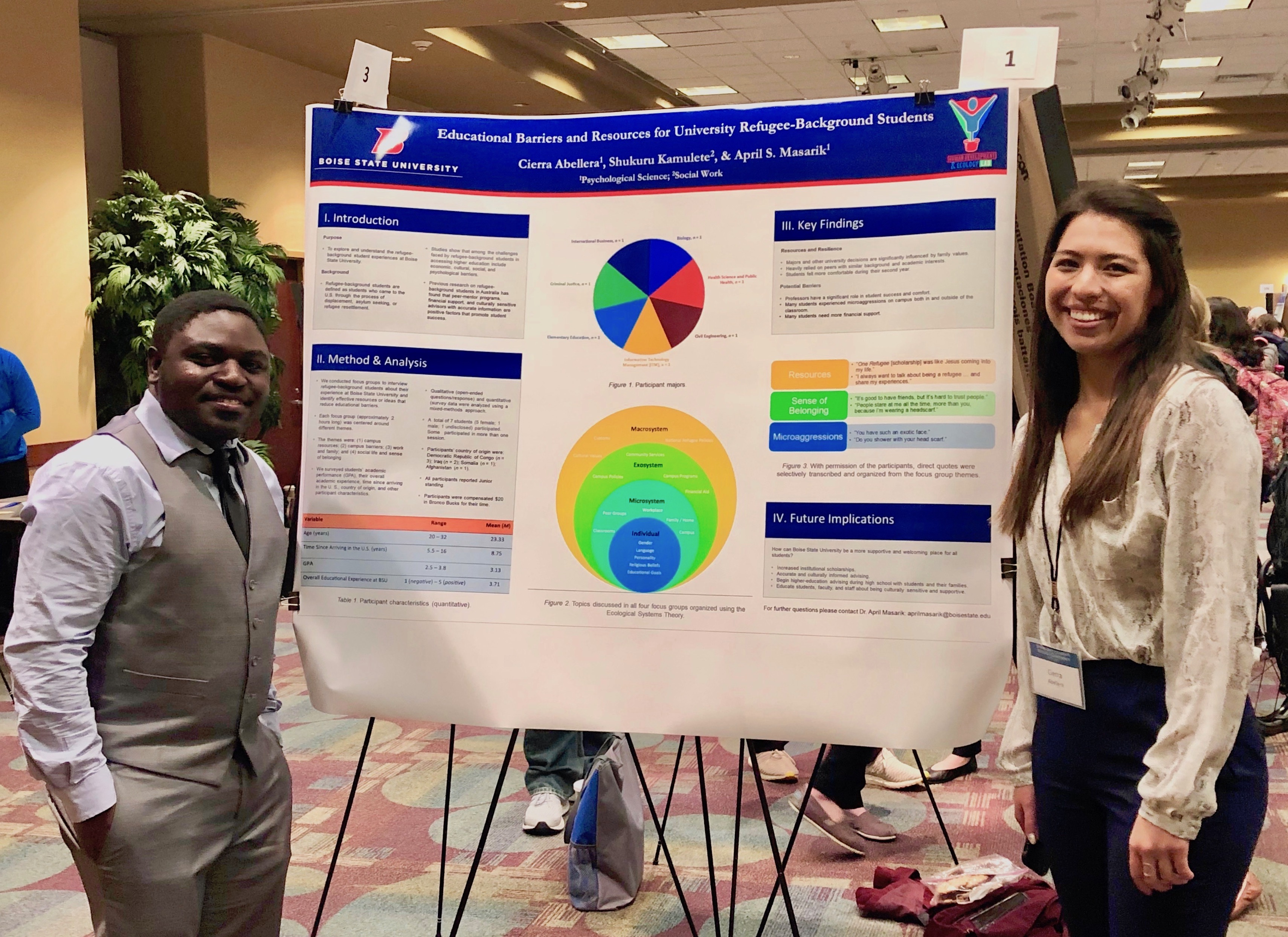 McNair students presenting at a research conference