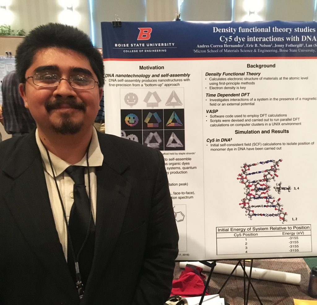 Andres Correa Hernandez presenting his McNair research project