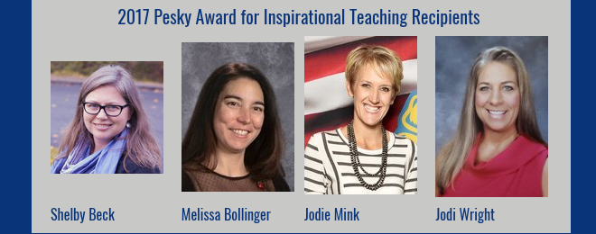 2017 Pesky Award for Inspirational Teaching, Boise State