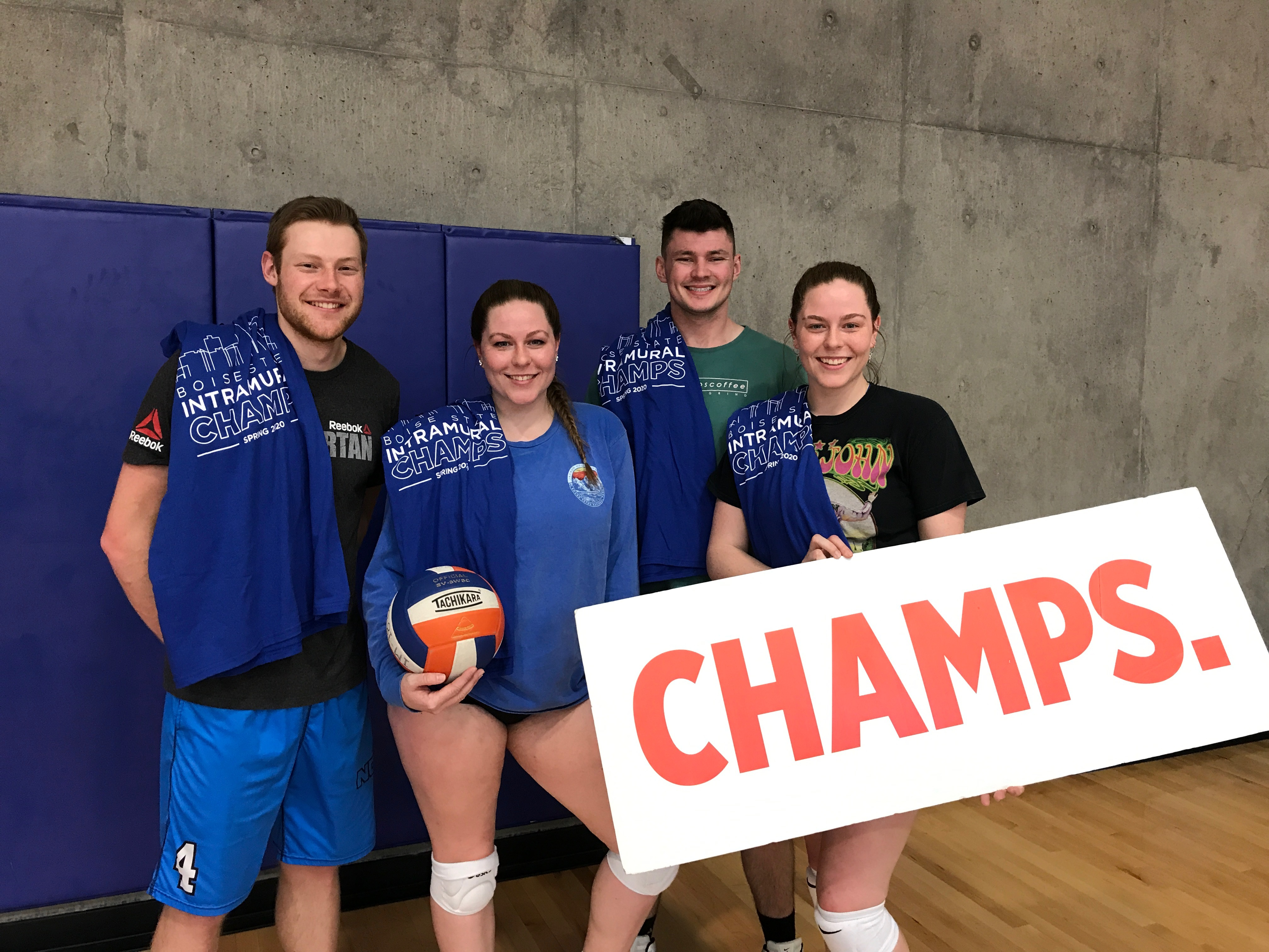 Spring CoRec Blue Volleyball Champions