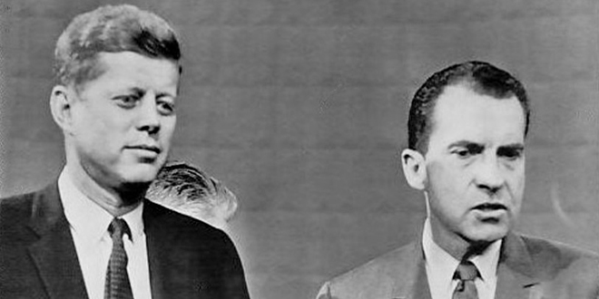 Photo of Kennedy and Nixon