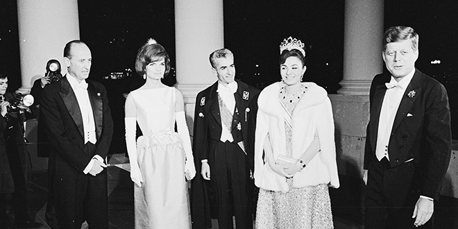 photo of kennedys with shah of iran
