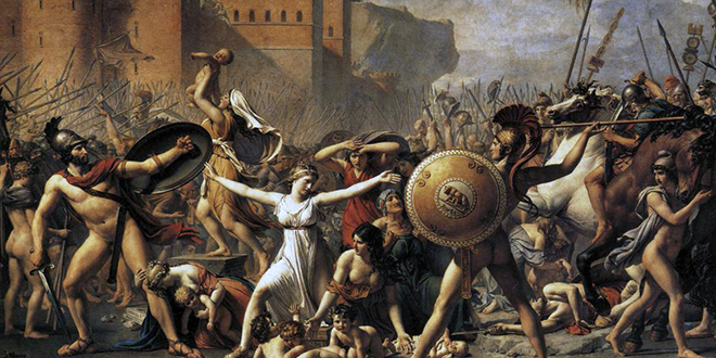 """Image of """"Intervention of Sabine Women"""" painting"""