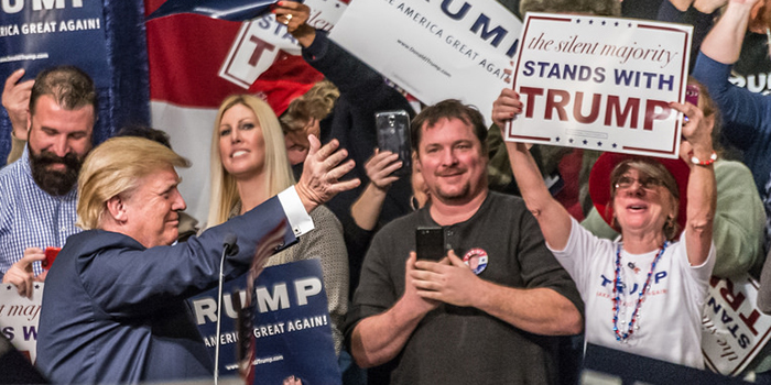photo of a donald trump rally