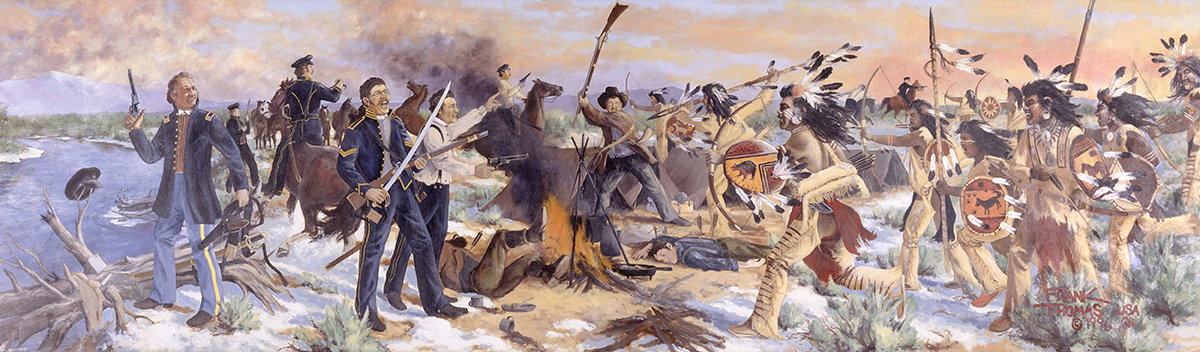 Mural of Gunnison Massacre