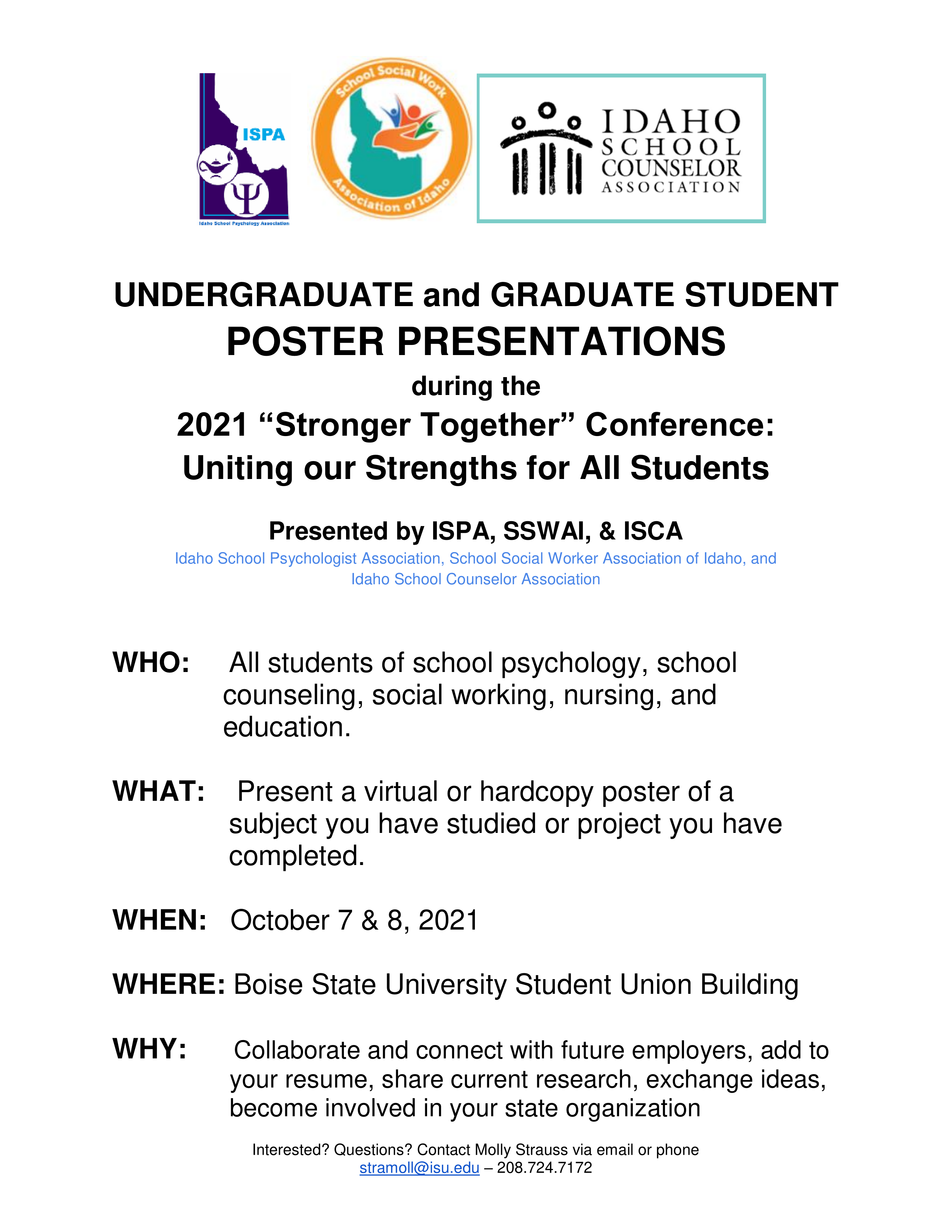 Stronger together conference flyer, link to larger image, text description available below