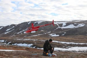 Michael Henderson in Alaska - drop off at remote nest location (by helicopter)