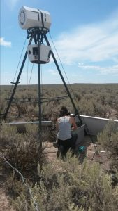 Cinto Mejia performing research in the field