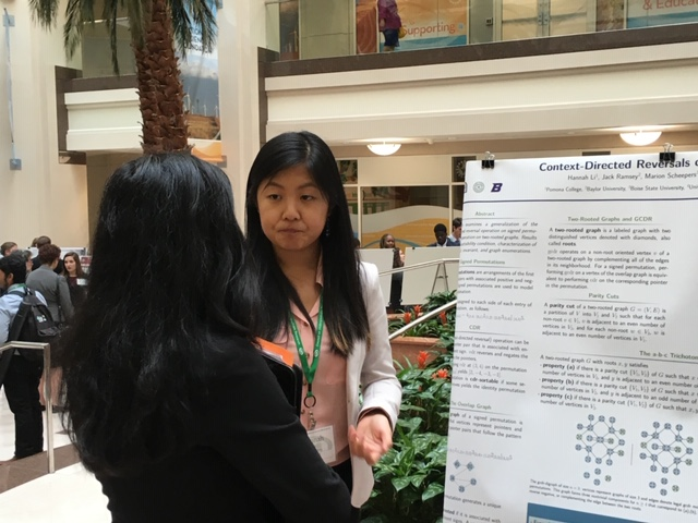 Students presenting a poster
