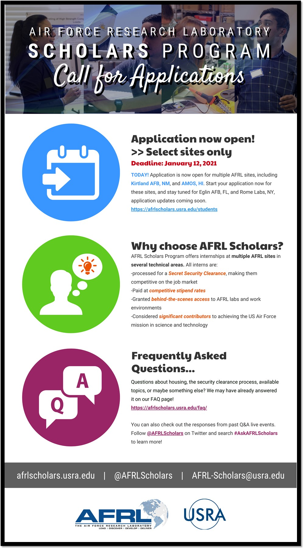 AFRL Call for Applications