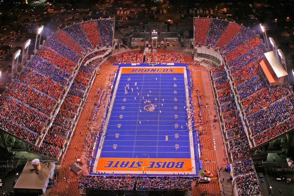 Aerial view of Third blue turf