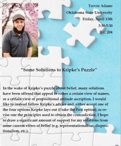 Flyer for Kripke's Puzzles Event
