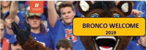 Bronco Welcome banner